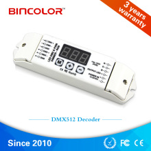 Flexible DC12V to DC24V input 3 channel RGB DMX512 decoder for RGB LED lights, DMX LED driver