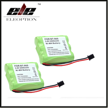 Eleoption 2 pcs High Quality 3.6v 2000mAh NI-MH Phone Battery for Panasonic KX-A36 P-P501 for Uniden BT-905 BT905