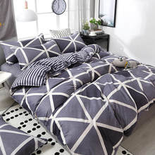 3/4pcs Geometric Pattern Duvet Cover Flat Bed Sheet Pillowcase Bedding Set Soft Skin-friendly Room Decoration Home Textile(China)