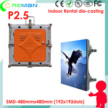 CE ul high refresh rate P2.5 rental video led display panel for stage backdrop , DJ booth full color led video wall P3 P2