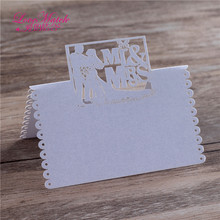 40pcs Laser Cut Table Name Place Card Wedding Favors Table Name Card Pearl Paper Card Wedding Wedding Decoration(China)