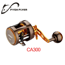 Top quality left right handed optional 11+1 BB Pure Metal Fishing Reel Golden Sea Hawk Premium Drum Wheel Baitcasting Reel(China)