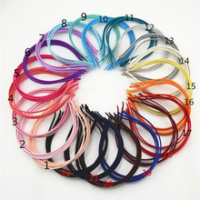 20pcs Wrap the cloth headbands wide:5mm head hoop DIY hair accessory ribbon Covered steel hairband woman Basic hair bands FJ3111