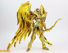 Great Toys sagittarius aiolos soul of gold saint seiya myth cloth ex gold action figure Metal Armor GT sog model