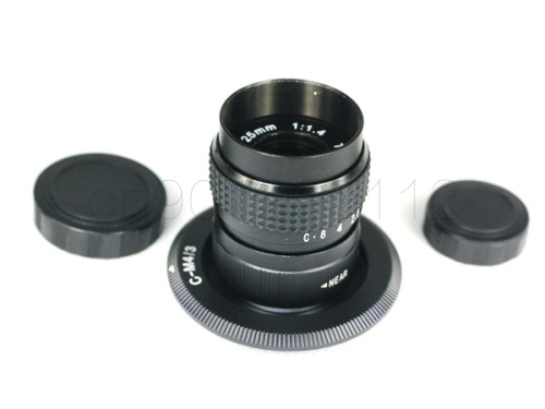 25mm F1.4 CCTV TV Movie lens+C Mount Panasonic Micro 4/3 m4/3 GF1 GF2 GF3 GF5 GF6 GX1 GX7 GX8 G85 GH5 GH1 GH2 GH3 C-M4/3