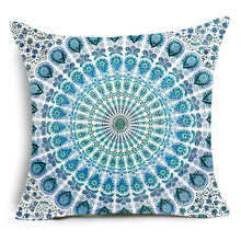Nordic Cushion Cover Fancy Hippie Mandala Polyester Pillowcase Sofa Bed Home Decorative Throw Pillow Cover Funda Housse Cushion