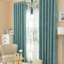 High-grade thickened chenille modern style embroidered curtain full-curtain luxury bedroom living room curtain line + tulle