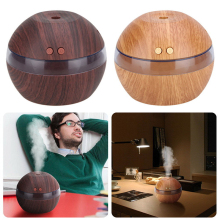 Wood Grain USB LED Light Ultrasonic Oil Aroma Diffuser Aromatherapy Air Mist Purifier For Office Home Car Usd