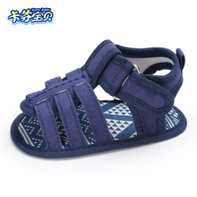 Summer Baby Sandals Newborn Boys Girls Comfortable Toddler Shoe Soft Bottom Canvas Indoor Shoes 0-18 Month 3 Colors(China)