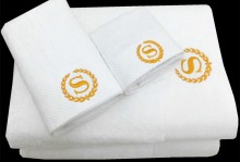 High Quality 16S 5 Star Hotel Towel Set 100% Combed Cotten 3PCS Set Bath + Face + Hand Towels Thickened Hotel White Bath Towels