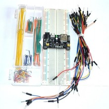 3.3V/5V Breadboard power module+MB-102 830 points Bread board kit +65 Flexible jumper