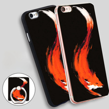 The Quick Orange Red Fox Soft TPU Silicone Phone Case Cover for iPhone 5 SE 5S 6 6S 7 Plus