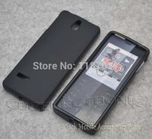 New High Quality   Black TPU matte Gel skin Rubber Case Cover For Nokia 515 Asha 515