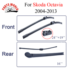 24''+19'' Auto Car Wiper Blades Specialize For Skoda Octavia,2004-2013,Windshield Soft Rubber,Brush Accessories(China)