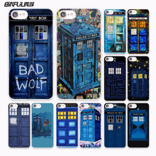 BiNFUL Tardis Bad Wolf doctor who Telephone booth design hard White Case Cover for Apple iPhone 7 6 6s Plus SE 5 5s 5C 4 4s phon