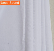 Deep Sound White Speaker Grille Cloth Stereo Grille Fabric Speaker Mesh Cloth 1.75mx1m(China)