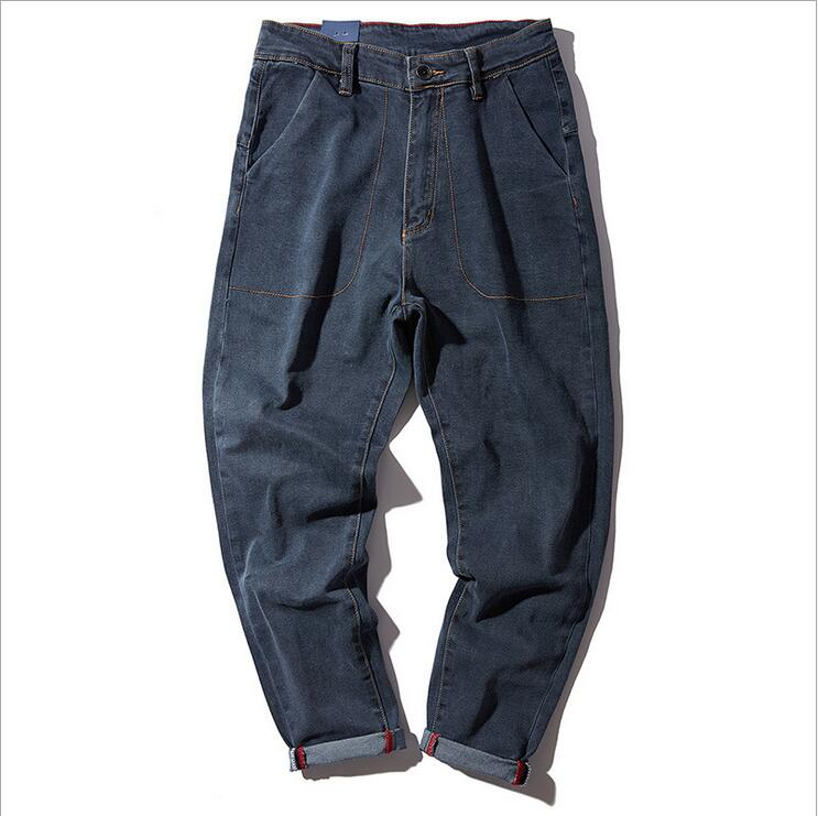 LensTid New Design Casual Men Harlan Jeans Pants Cotton Loose Straight Trousers Fashion Pockets Solid Color Pants Men #D5165Одежда и ак�е��уары<br><br><br>Aliexpress