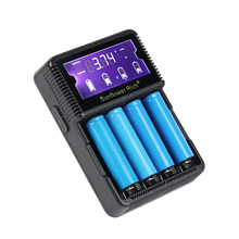 Battery Charger LCD Smart Charging for 18650 14500 16340 26650 Batteries 12V 24V Charger for A AA AAA Batteries(China)