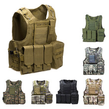 Tactical Vest Amphibious Battle Military Molle Waistcoat Combat Assault Plate Carrier Vest Hunting Protection Vest Camouflage(China)