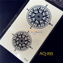 hot popular Water Transfer Henna Tattoos AQ-055 Men Women Small Scar Cover Compass Design Waterproof Temporary Tattoo Stickers(China)