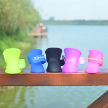 4Pcs/lot Candy Colors Dog Rain Shoes pet cat Dog Shoes dog socks Waterproof Pet Colorful for Small dogs pet accessories(China)