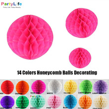 6''8''10''(15cm,20cm,25cm,30cm) Tissue Paper Pom Poms Honeycomb Lampion Ball Wedding Birthday Party Event Party Supplies Decor(China)