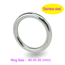 3 size Stainless steel Physical Delay ejaculation time dick penis ring Casing bound scrotum cock ring sex toy for men cockring(China)