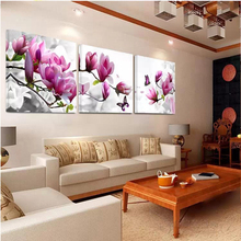 No Frame 3 Panels Printed Orchid Flower Canvas Oil Painting Cuadros Decoracion Wall Picture In Living Room Modern Canvas Art