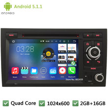 "Quad core Android 5.1.1 WIFI RDS FM 1024*600 7"" Car DVD Player Radio Audio Stereo Screen GPS PC For Audi A4 S4 RS4 8E 8F B9 B7"