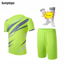 FREE SOCKS 2017 DIY Team Logo Men's Soccer Jerseys Football Kits Thai Adult Suits Breathable Outdoors Sports Training Uniform