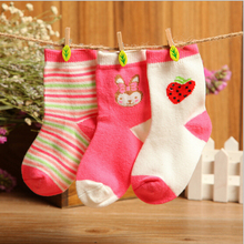 3 Pairs Fashion Hot Print Socks Newborn Baby Stocks Baby Boy Girl Sock Casual Warm Cotton Blend Infant Sock