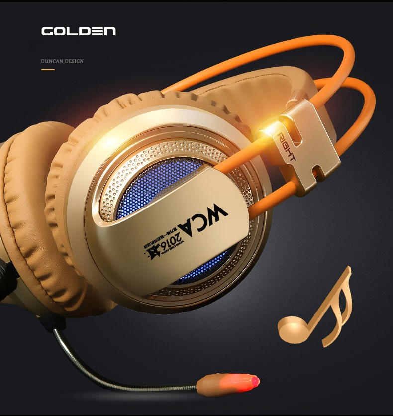 Original XIBERIA V10 USB Gaming Headphones Vibration LED Stereo Around Gaming Headset Headphone With Microphone Mic For PC Gamer