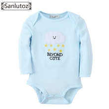Sanlutoz Baby Clothes Newborn Baby Romper Boys Girls Winter Infant Clothing Clouds Stars Pattern Jumpsuits(China)