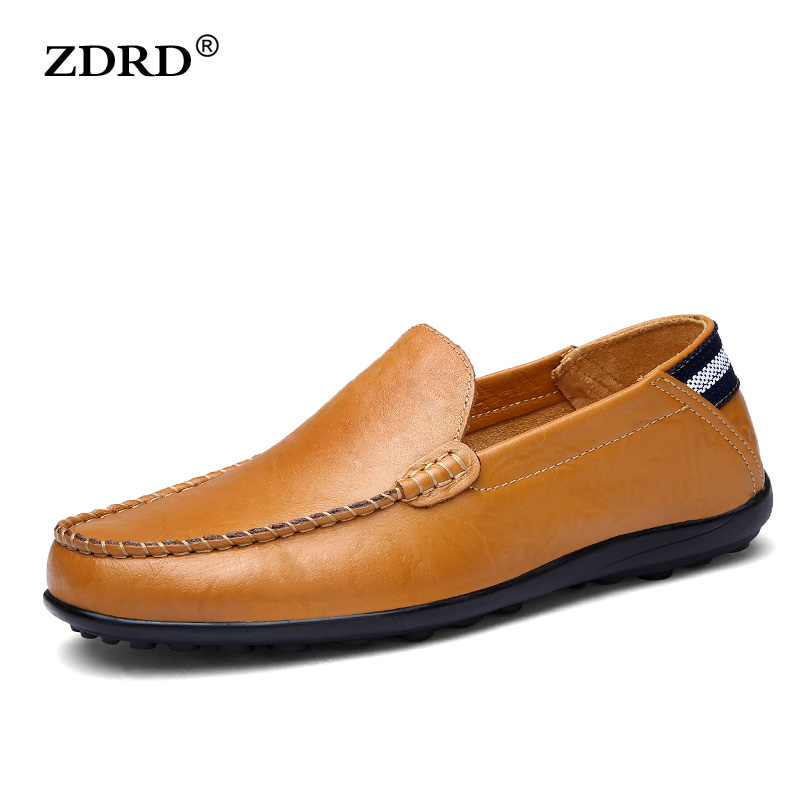 2017 Mens Loafers Luxury Brand Genuine Leather Mens Slip On Shoes Breathable Men Driving Shoes Fashion Mens Boat Shoes<br><br>Aliexpress
