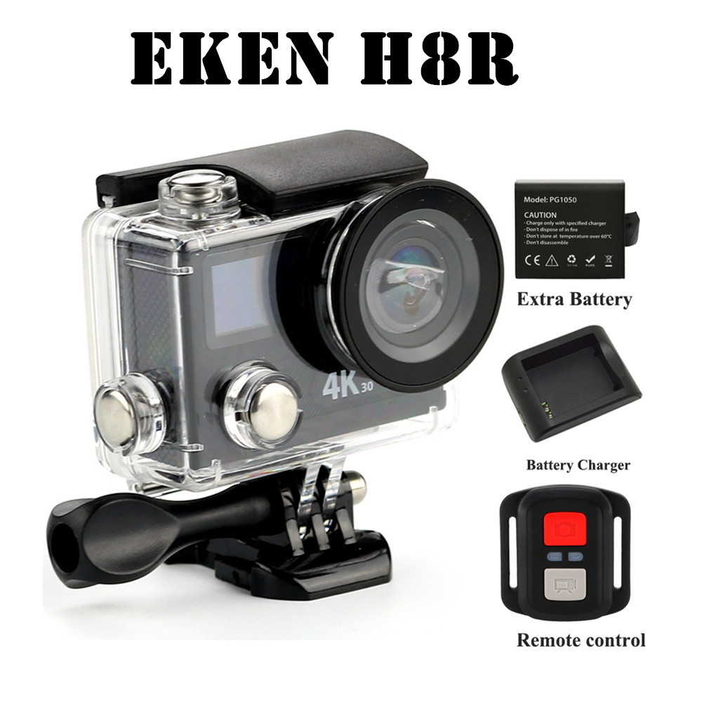 Action camera Original  EKEN H8R VR360 ultra 4K / 30fps WiFi 2.0Dual LCD Remote Controller proCam go waterproof sport camera<br><br>Aliexpress