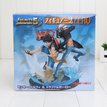 Japanese Anime One Piece Figures The straw hat Pirates Monkey D Luffy & Trafalgar Law 5th Anniversary Edition Action Figure