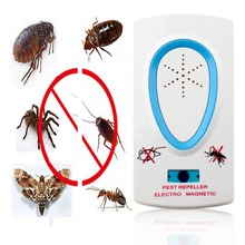 2.5W EU Plug AC 90 ~ 250V White Pest Repeller Electronic Ultrasonic Mouse Rat Mosquito Insect Rodent Control(China)