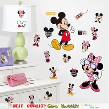 Hot Mickey Minnie Mouse Home Decals Wall Sticker, Kids Baby Room Decor Wall Art DIY Sticker Kitchen Refrigerator Computer Poster