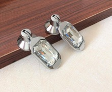 Silver Crystal Drawer Knobs  Dresser handle Knobs / Glass Cabinet pulls Handle Knob Kitchen Cupboard Knobs Bling Hardware