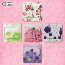 10 PCS High Quality Flower Series PVC Switch Stickers Bedroom Living Room Wall Stickers Home Decor Children Room Stickers(China)