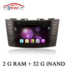 Android 6.0 car dvd player for Suzuki Swift 2011 2012 car radio in dash 2 din 1024*600 car dvd gps navigation external MIC