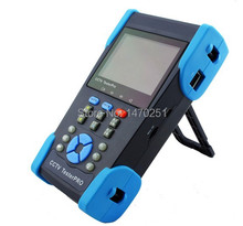 "Free Shipping 3.5"" Full View TFT LCD CCTV Camera Tester Color Bar Generator UTP Cable Test IP Address Scan PoE Test PTZ Control(China)"