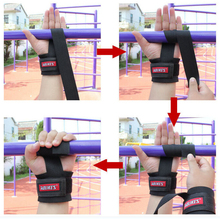 No-Slip Thicken Gym Training Weight Lifting Gloves Bar Grip Barbell Straps Wraps Hand with Wrist Support for Protection