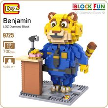 LOZ ideas Diamond Block Benjamin Clawhauser Zootopia Zootropolis Animal Fat Leopard Cheetah Zoo Building Blocks Toy Bircks 9725