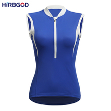 HIRBGOD 2016 new design womens cycling jersey sleeveless three colors available solid simple style high quality bike tops,NM117
