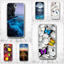 For Lenovo Vibe S1 Case Coque Butterfly Trees Sea Nature View Back Case Cover For Lenovo Vibe S1 Back TPU Protector Phone Capa