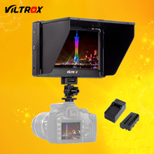 Viltrox 7'' DC-70 II Clip-on HD LCD HDMI AV Input Camera Video Monitor Display & Battery & Charger for Canon Nikon DSLR BMPCC(China)
