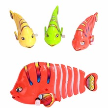 Funny Baby Toys New Cute Wind up Bath Diver Plastic Toy Swimming Baby Kids Bath Fish Toys(China)