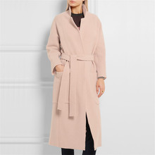 Buy 2017 Autumn Winter Fashion All-match Women Outwear Slim Woolen Overcoat Solid Color Pocket Turn-down Collar Cashmere Coat Female for $55.49 in AliExpress store