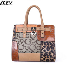 2018 luxury handbags women bags designer PU leather OL office work bag ladies patchwork hand bags famous brands female big tote(China)